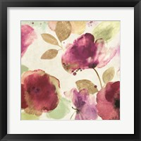 Framed Watercolour Florals I