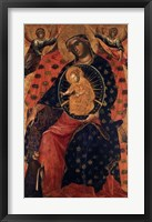 Framed Madonna and Child with two Votaries