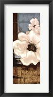 Framed White Poppies Panel II