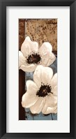 Framed White Poppies Panel I