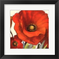 Framed Poppy Splendor Square I