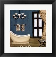 Framed blue beach bath III