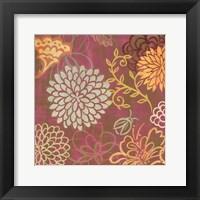 Framed floral soiree I