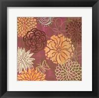 Framed floral soiree II
