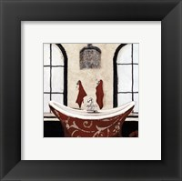 Framed Red Villa Bath I