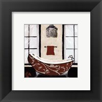 Framed Red Villa Bath II