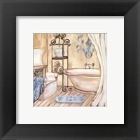 Framed Chateau Bath I