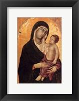 Framed Virgin and Child portrait