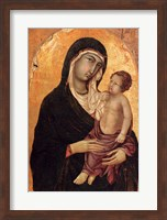 Framed Virgin and Child portrait