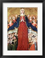 Framed Madonna with angels