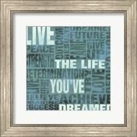 Framed Live The Life You've Dreamed