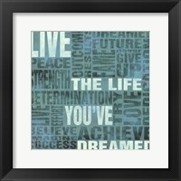 Framed Live The Life You've Dreamed