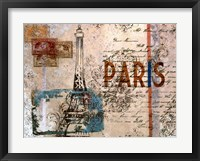 Framed Paris Postcard