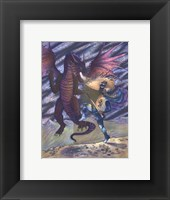 Framed Dragon and Blue Knight