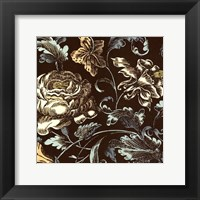 Framed Fanciful Floral I
