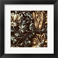 Framed Fanciful Floral II