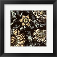 Framed Fanciful Floral III