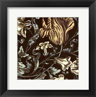 Framed Fanciful Floral IV