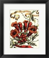 Framed Ribbon Florals IV