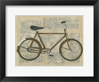 Tour by Bicycle I Framed Print