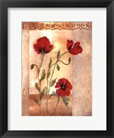 Framed Red Poppies IV