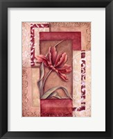 Framed Red Tulip Collage II