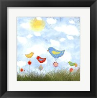 Bird Land Framed Print