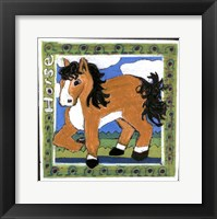 Framed Whimsical Horse