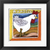 Framed Whimsical Rooster