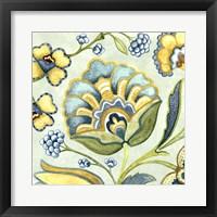 Framed Decorative Golden Bloom III