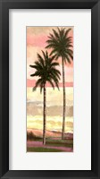 Framed Blush Palms I