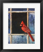 Framed Cardinal Window