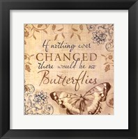 Framed Butterfly Notes VI