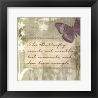 Framed Butterfly Notes VII