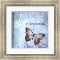 Framed Butterfly Notes IX