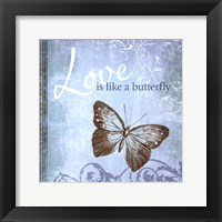 Framed Butterfly Notes IX