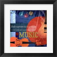 Music Notes X Framed Print