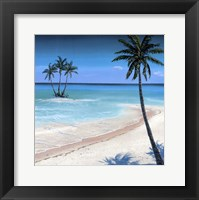 Framed Palm island II
