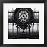 Paris clock I Framed Print