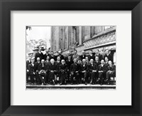 Framed 1927 Solvay Conference on Quantum Mechanics