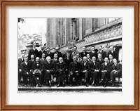 Framed 1927 Solvay Conference on Quantum Mechanics