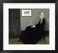 Framed Whistler's Mother