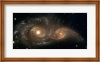 Framed Colliding Spiral Galaxies