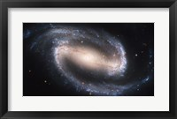 Framed Barred Spiral Galaxy