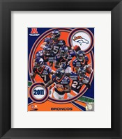 Framed Denver Broncos 2011 AFC West Division Champions Team Composite