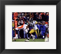 Framed Demaryius Thomas Game Winning Touchdown 2011 AFC Wild Card Playoff Action