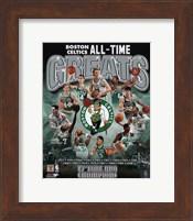 Framed Boston Celtics All Time Greats Composite