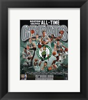 Framed Boston Celtics All Time Greats Composite