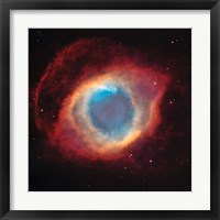 Framed Helix Nebula: a Gaseous Envelope Expelled By a Dying Star