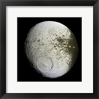 Framed Saturn's Moon Lapetus